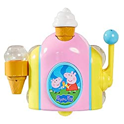 PEPPA PIG BUBBLE ICE CREAM: Kids can make their own pretend ice creams and have loads of fun in the bath! With Peppa's ice cream maker you can give the gift of learning whilst having fun! OPEN FOR BUSINESS: Simply drip a few drops of bubble bath into...