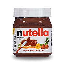 Ferrero Nutella Hazelnut Spread, Perfect Topping for Pancakes, 13 Oz Jar (Packaging May Vary)