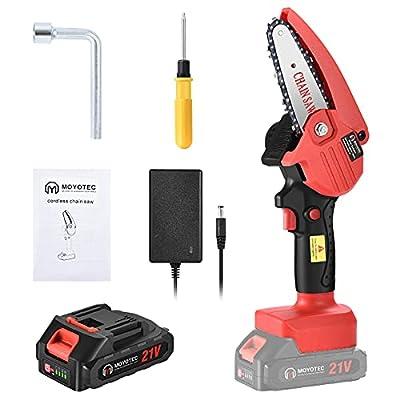 Mini Chainsaw Cordless Handheld 4-inch Battery ...