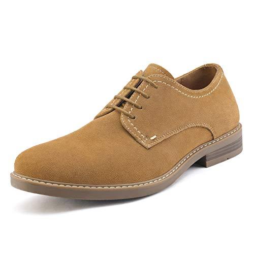 Bruno Marc LG19001M Zapatos de Cordones Vestir Oxfords para Hombre Bronceado 41.5 EU/8.5 US