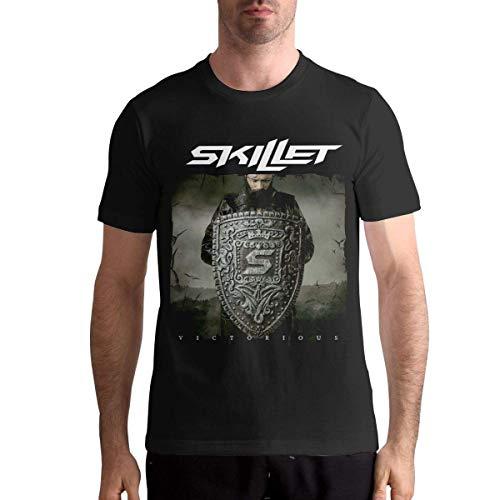 Sportswear Herren Kurzarmhemd, Skillet Band Shirt Mens Fashion T Shirt Cotton Tee Shirts Short Sleeve