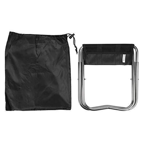 Cosiki Leichter Klapphocker, kleine und kompakte leichte Angelcampingsitze, tragbare Schwarze Aluminiumlegierung für Picknickcampingfischen im Freien(Folding Chairs)