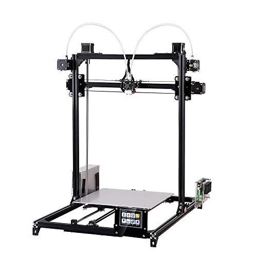 WXX FLSUN_C Plus Pantalla táctil Impresora 3D de Doble Boquilla i3 Plus Kit de Bricolaje con nivelación automática RepRap Escritorio Impresión 3D Cama calefactada