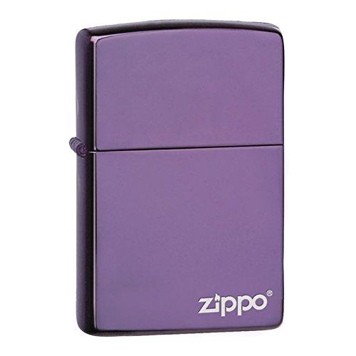 Accendino Zippocon logotipo, design opaco [personalizzabile] Zippo Brushed Lighter-Zippo Abyss With Logo