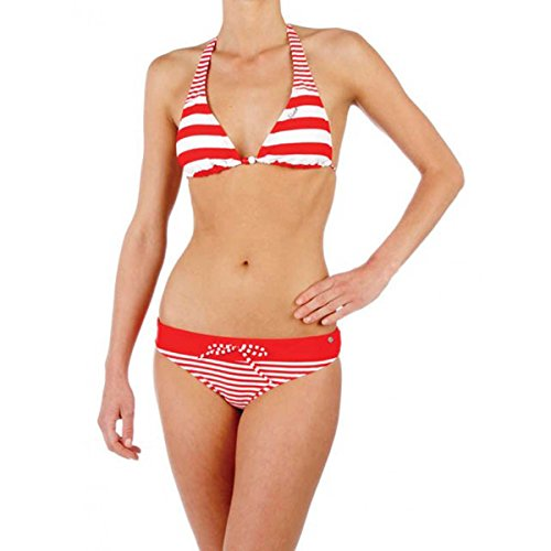 Protest Maillot de bain Yoska - Couleur - Rayures Rouges et Blanches, Taille Maillot - 44