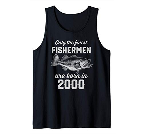Gift for 21 Year Old: Fishing Fisherman 2000 21st Birthday Tank Top