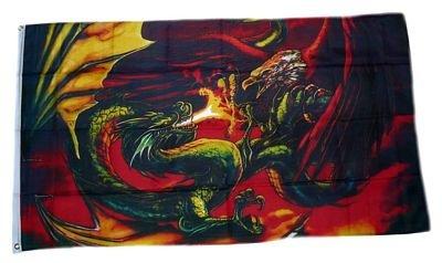 Flagge Fahne Drache gegen Adler NEU 90 x 150 cm FLAGGENMAE®