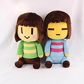 "FidgetKute 8"" Undertale Frisk and Chara Plush Doll Soft Stuffed Game Toys Kids Xmas Gift Show One Size"