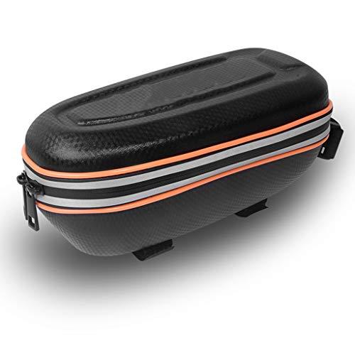 YFAX, Bolsa para teléfono móvil para Bicicleta, Bolsa rígida Impermeable para Bicicleta, Bolsa para viga Delantera para Bicicleta de montaña, , Tira Reflectante, 2 Colores Opcionales