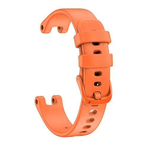 GROOMY Correa, Correa de Reloj Colorida, reemplazo de Silicona, Pulsera de Moda Colorida para Lily, Hombres, Mujeres, Reloj Inteligente, Naranja