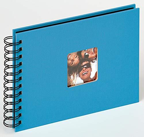 Walther Design SA-109-U álbum de Caracol Fun, 23x17 cm, 40 páginas Negras, con el Corte para un Foto, Azul océan