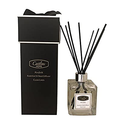 Reed Diffuser Essential Oil Jasmine Lily Scent Natural Reed Sticks Home Fragrance Gift 4.4floz-125ml Caitlins Home