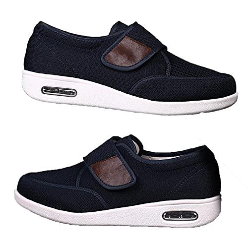 XRDSHY Zapatos para Diabéticos Hombres, Zapatos De Ensanchamiento De Fertilizante De Gran Tamaño Plus para La Hinchazón del Pie Fascitis Plantar Zapatos para Caminar,Blue-47