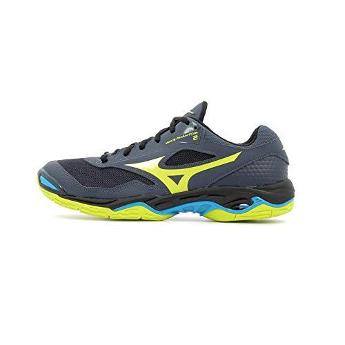Mizuno Herren Wave Phantom 2 Sneakers, Mehrfarbig (Ombreblue/Syellow/Hocean 001), 44 EU