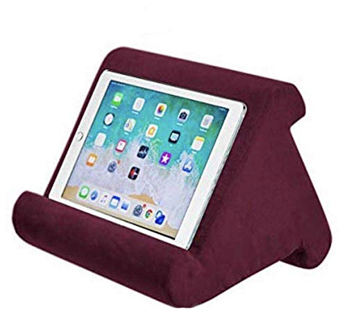 Foldable Tablet Soft Pillow, Lap Holder Stand Book Rest Reading Support Cushion For iPad, Foldable Triangular, Used On Bed, Desk, Car, Sofa, Lap, Floor, Couch, Multi-Angle Soft Pillow