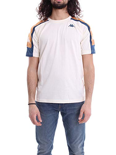 Kappa t-Shirt Unisex 304I050952 222 Banda 10 ARSET WhiteAnt-Blue-Bronze M