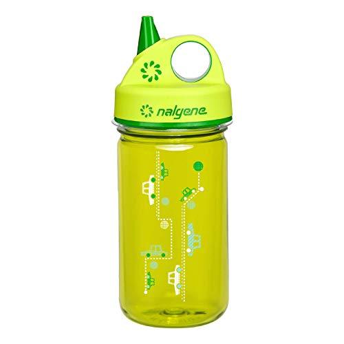 Nalgene Kinder Kunststoffflasche Everyday Grip-n-Gulp Trinkflasche, Grün, Autos, 0.35 Liter