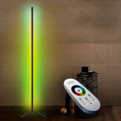 RGB Dimmable Bedside Lighting Modern LED Decoration Home Floor Lamp with Remote Control for Bedrooms Living Room Office