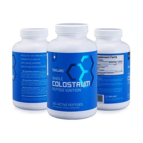 Pure Bovine Colostrum - TBR Labs - 180 Capsules - Antibiotic and Hormone Free - USA Sourced - All Natural - 100% First Milking