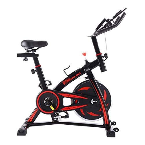 SXXYTCWL S-350 Silencieux intérieur Spinning vélo Fitness vélo avec siège réglable/poignée Beverage Support for téléphone Portable/Tablet PC Support Moniteur LCD, Gardant Capacité: 130 kg jianyou