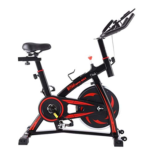 SXXYTCWL S-350 Indoor Silenzioso Spinning Bike Fitness Bicicletta con Sedile Regolabile/Un manipolo Bevande Mobile Phone/Tablet PC Supporto Monitor LCD, Cuscinetto capacità: 130kg jianyou