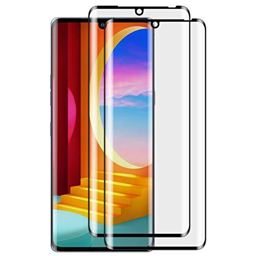 Foluu Bildschirmschutzfolie aus gehärtetem Glas für LG Velvet 2020, volle Abdeckung, blasenfrei, kratzfest, HD-klar, hohe Reaktionsfähigkeit