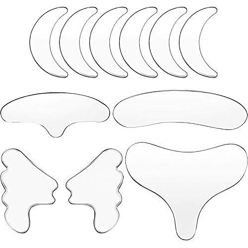 TLYNN 11 Stücke Schönheit Stirn Anti-Falten-Patch, Anti Aging für verjüngte Hautelastizität 6Pcs Anti Falten Silikon Patch Pad Skin Lifting Wiederverwendbare Stirn Eye Chin Face Patch