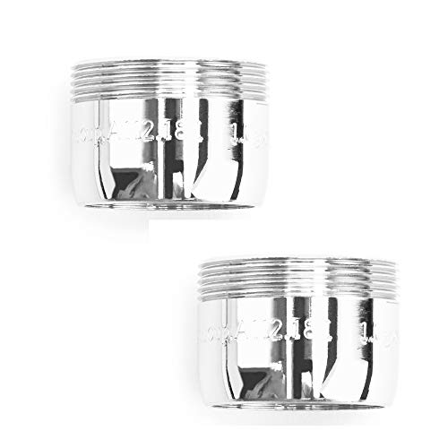 PF WaterWorks PF0563 MasterFIT Sense Listed Water Saving Dual Thread (15/16-27 and 55/64-27) Bathroom Faucet Aerator-1.5 GPM-Bubble Spray-2 Pack, Chrome