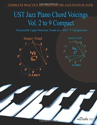 UST Jazz Piano Chord Voicings Vol. 2 to 9 Compact: All possible Upper Structure Triads in a IIm7 V7 progression: 2-9