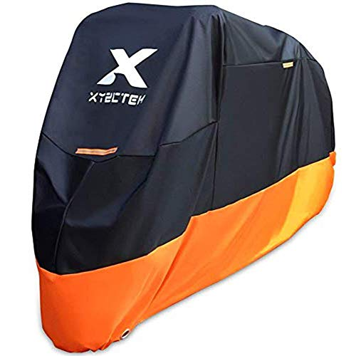 XYZCTEM Motorcycle Cover – All Season Waterproof Outdoor Protection – Fit up to 97 Inch Tour Bikes, Choppers and...