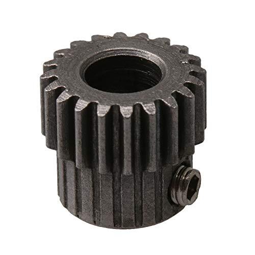 RDEXP 45# Stahl 0,5 Modulus 20T Zähne 5 mm Bohrungsdurchmesser Metall Motor Ritzel Getriebe Silber