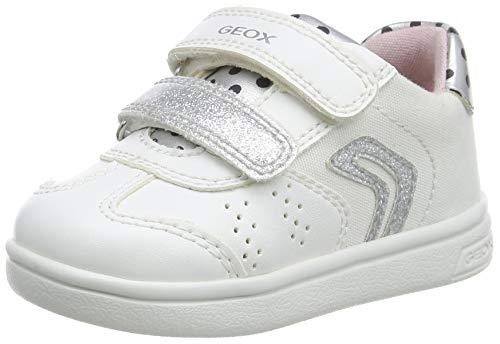Geox Baby Mädchen B DJROCK Girl A Sneaker, Weiß (White/Silver C0007), 26 EU