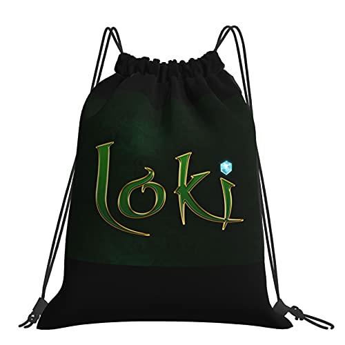 Lo-ki - Bolsa de gimnasio, con cordón, bolsa de viaje, repelente al agua, mochila ligera para hombres y mujeres