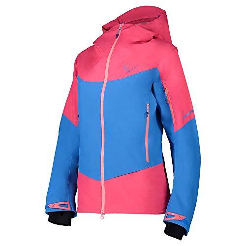 DYNAFIT W Yotei Gore-Tex Jacket Colorblock-Blau-Pink, Damen Gore-Tex Windbreaker, Größe 34 - Farbe Lipstick