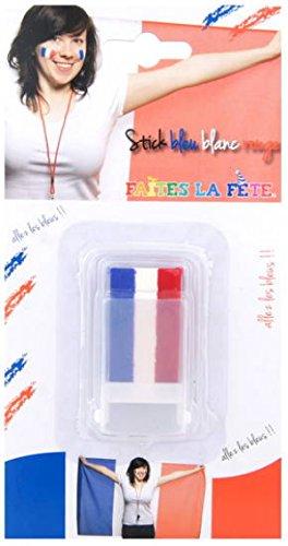Crayon stick maquillage supporter bleu blanc rouge