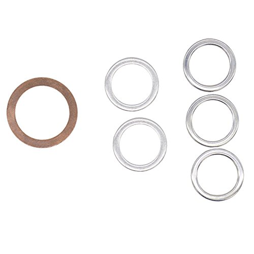 Differential and Transmission Drain Plug Crush Washers Gaskets Fits for Toyota 4runner Tacoma Tundra FJ cruiser Land Cruiser, Replacement for the part# 12157-10010 90430-24003 90430-18008