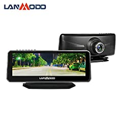 """🚘【8.2"""" Full COLOR IMAGE & 1920x1080 resolution】LANMODO affordable car night vision camera is equipped with 8.2'' IPS screen and presents 1080P HD full-color image even at night, helping judge the road conditions quickly when driving. Lanmodo car nigh..."""