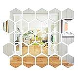 Sovob Sticker mural amovible en acrylique miroir 3D pour la maison, le salon, la chambre à coucher, le bureau