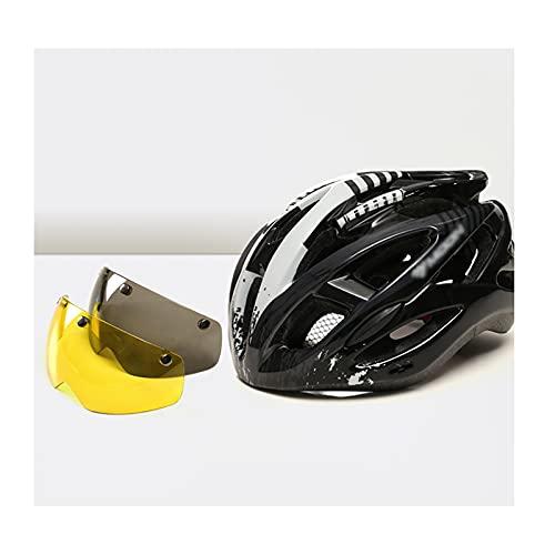 ZRN Casco da Ciclismo Leggero Regolabile con Due Occhiali, Casco da Bicicletta per Mountain Bike da Strada per Uomo e Donna per Sport all'Aria Aperta, Certificato DOT