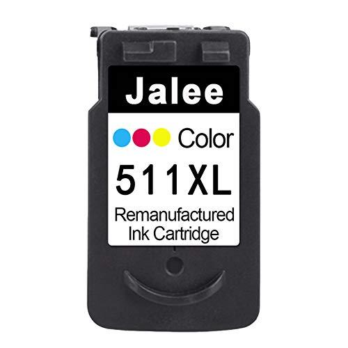 Jalee Color Cartuchos de Tinta refabricado para Usar en Lugar de Canon CL-511 XL Compatible para Canon PIXMA iP2700 MP230 MP235 MP240 MP250 MP260 MP270 MP280 MP490 MP495 MP499 MX320 MX330 MX340 MX350