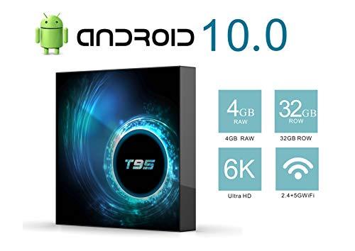 TV Box Android 10.0 TV Box H616 Quad-Core CPU 4GB RAM 32GB ROM Ultra HD 6K Resolution 2.4GHz WiFi 100M LAN 2USB2.0 Smart Media Player