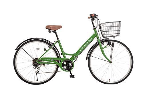 voldy.collection 自転車 26インチ折りたたみシティサイクル VFC-001 グリーン