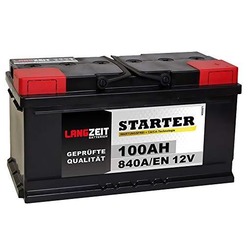 LANGZEIT Autobatterie 100AH 12V Batterie 30{79056e851a839fbc22badaf34a10776697ce0041d33b980142d3351f4bab0cc7} mehr Startleistung ersetzt 88Ah 90Ah 92Ah 95Ah 100Ah