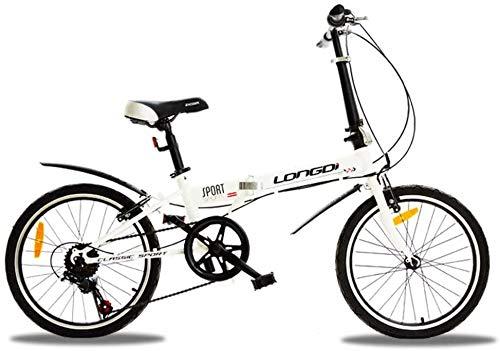 YLJYJ Adultos Bicicletas Plegables, Bicicletas Plegables Velocidad Variable Estudiante Rueda pequeña Bicicleta de Regalo Bicicleta Plegable-Negro 20 Pulgadas
