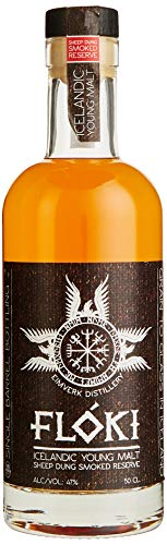 Flòki Icelandic Young Malt Sheep Dung Smoked Reserve Whisky (1 x 0.5 l)