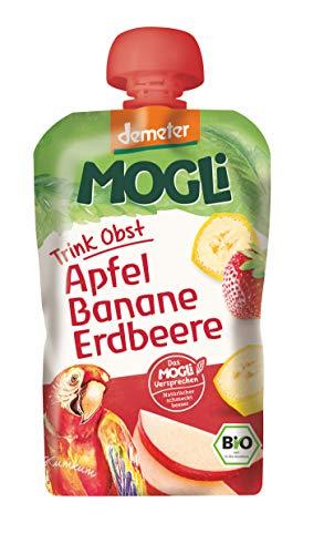 MOGLi Bio Demeter Quetschbeutel Erdbeere 12er Quetschie Vorrats Pack (12x100g)