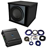 Universal Car Stereo Paintable Ported 10' Alpine Type R R-W10D4 Sub Box Enclosure with S-A60M Amplifier & 4GA Amp Kit