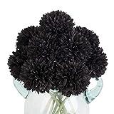 Louiesya Künstliche Blumen, 10 Stück künstliche Blumen, Seide, künstliche Chrysanthemen-Kugel,...