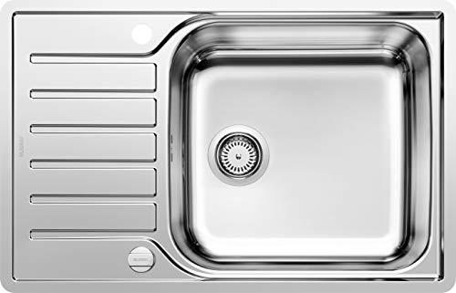 Keukenaanrecht LANTOS Extra grote bekkens – verkort afdruiprek. 60 cm Unterschrank Roestvrij stalen borstelfinish