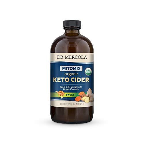 Dr. Mercola Organic Blueberry Apple Cider Vinegar with Ginger & Turmeric (16 fl. oz. per Bottle): 1 Bottle
